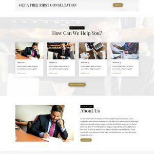 Divi sablon weboldal csomag ügyvédeknek