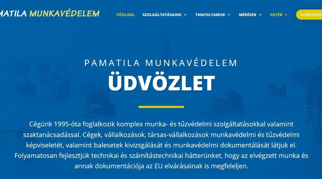 Weblap készítés referencia: Munkavedelem-pamatila.hu