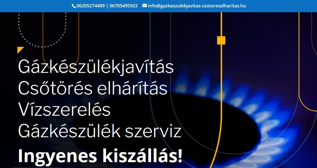 Weblap készítés referencia: Gazkeszulekjavitas-csotoreselharitas.hu