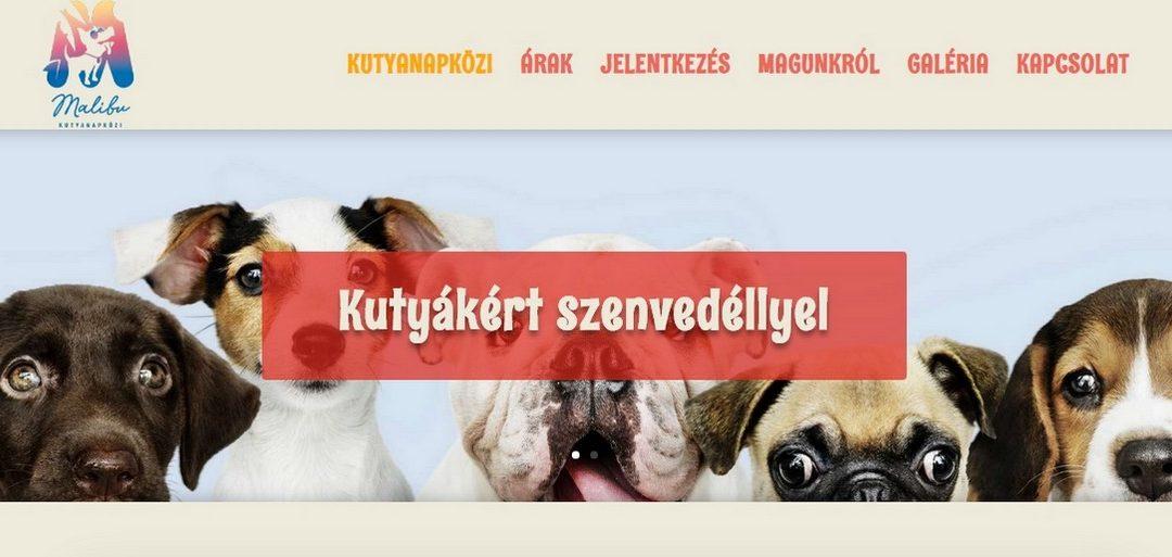 Weblap készítés referencia: Malibukutyanapkozi.hu